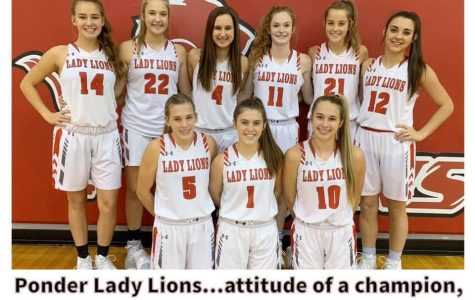 Ponder Lady Lions Basketball are District Champs; Crider Gets Double Double