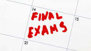 Half Way There- Semester Exam Schedule