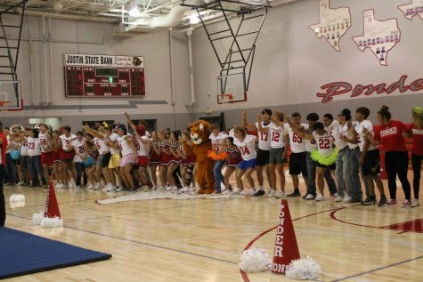 Ponders First Pep Rally of the Year