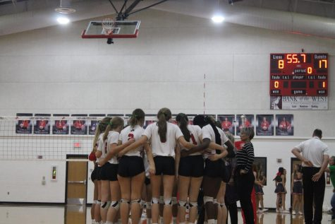 Lady Lions Serve the Valley View Eagles